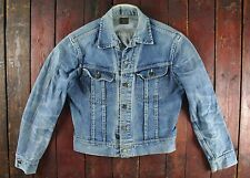 Trapunta Vintage 60s Lee 101-J comodi Blu Denim Jean Giacca Union Made Camionista Small 38R