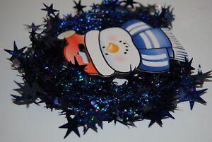 Sternengirlande blau glitzernd 7,5 Meter lang Weihnachtsbaumschmuck Girlande 2 x