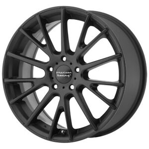 "American Racing AR904 16x7 5x115 +40mm Satin Black Wheel Rim 16"" Inch"