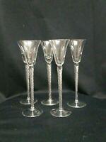 Vintage Cordial Glasses Air Twist Stem Hand Blown Magnificent set of 5