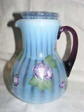 Vintage Fenton Glass Blue Opalescent Diamond Jubilee Tumble up 75th Anniversary