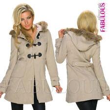 Polyester V-Neckline Women's Basic Coats