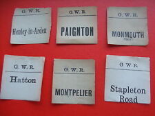 GWR Collectable Railway Luggage Labels