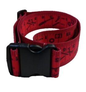"2"" wide Red Tape Measure Belt"