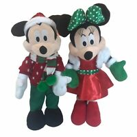 """Disney Mickey & Minnie Mouse Christmas/Holiday 22"""" Standing Porch Greeter/Plush"""