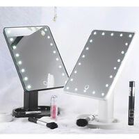 Touch Screen LEDs Lighted Makeup Mirror Tabletop Lighted Cosmetic Vanity Mirror