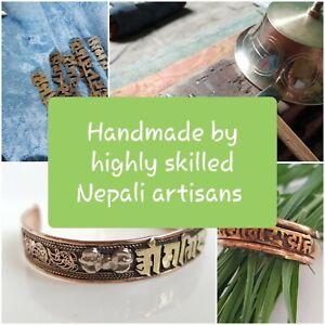 Handmade Pure Copper Cuff/Bangle/Bracelet *Hand-beaten in Nepal* Meander/Greek