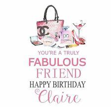Personalised handmade Happy Birthday CARD Girl Female Friend