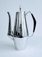 Reed & Barton Sterling Silver The Diamond Coffee Pot Black Reeded Handle #440