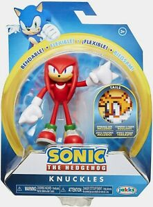 """NIB Sonic The Hedgehog 4"""" Knuckles Action Figure Toy 4"""""""