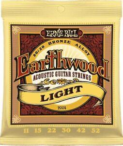 Ernie Ball 2004  Acoustic Guitar Strings Earthwood Light  11-52 - New