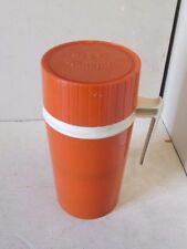 Vintage Orange Thermos Pint Size Handled Model 7202 King Seeley Hot Cold