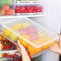 Storage Collecting Box Basket Kitchen Refrigerator Fruit Organiser Rack V7X3