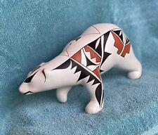 Jemez Pueblo Native American Indian Bear Pottery signed by artist see photos