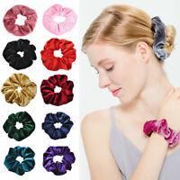 Women Scrunchies Ponytail Holder Hair Band Bun Tie Rope Elastic Accessories B2C9