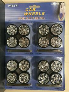 1:18 Scale Diecast Wheels + tyres + axles Billet rims Car Models 2006A Biante