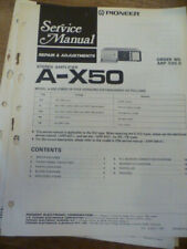 Pioneer  A-X50  Stereo Amplifier  Service Manual