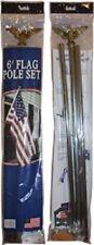 6' Ft Residential Flagpole Set - Economy Kit (Galvanized Steel) Mounting Bracket
