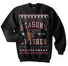 Seasons Swishes Ugly Christmas Sweater, Basketball, Hoops, Swish, Sports