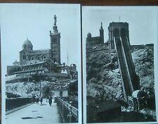 Lot 2 cartes postales anciennes Marseille Notre Dame De La Garde CPA