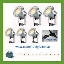Techmar Garden Spot Lights CATALPA (6 Set) Plug & Play = 20 metre Single Leg