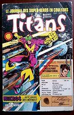"""Marvel présente TITANS n°85 de 2/1986 sur 82 pages """"La guerre des étoiles"""""""