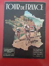 1949 Miroir sprint n°SPECIAL AVANT TOUR DE FRANCE 1949 CARTE TRICOLORES EN PHOTO