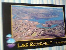 VINTAGE POST CARD LAKE ROOSEVELT WASHINGTON