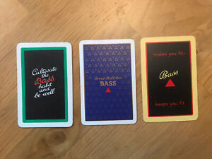 3 Bass Brewery Single Playing Cards
