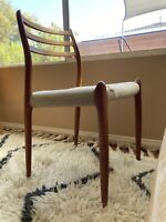 One Mid Century Niels Otto Moller for JL MOLLER Model 78 Teak Dining Chair