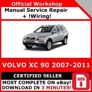 FACTORY WORKSHOP SERVICE REPAIR MANUAL VOLVO XC90 2007-2011 +WIRING