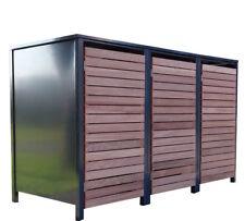 Mülltonnenbox Habau 240 Liter Holz 81x92x124cm
