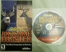Cabela's Big Game Hunter PlayStation 2 3 Disc & Manual ONLY! GH Good Cond. $1.00