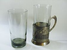 RUSSIAN / SOVIET SILVER PLATED TEA /  GLASS HOLDER, KREMLIN TOWER -- 1950s-60s