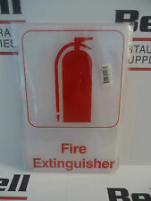 "*New* 6"" x 9"" Sign - Fire Extinguisher (Red/White)"