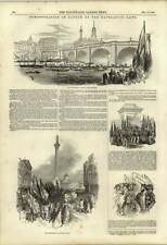 1848 MANIFESTAZIONE A FAVORE DELLE LEGGI DI NAVIGAZIONE Processione Charing Cross