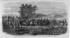 GENERAL CROOK'S ARMY CROSSING WEST FORK OF GOOSE CREEK DAY BEFORE ROSEBUD BATTLE