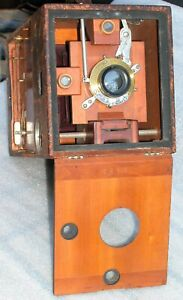 Antique Kodak #4 Bullet Special 4x5 Box Camera Bausch Lomb Rectilinear Lens 1897