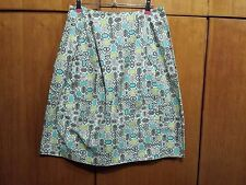 Marni Cotton Graphic Print A Line Design Skirt Made In Italy 100% Genuine