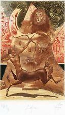 Zodiac, Sagittarius, Lion, Archery, Ex libris Bookplate Etching by Peter Velikov