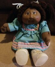 "Vtg 16"" Cabbage Patch Kids  Doll Black African American in Great Shape"