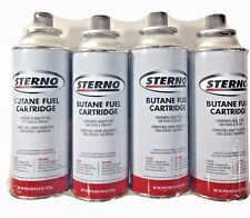 Sterno Butane Fuel Cartridges 8 OZ Foodservice Quality for Stoves & Torches 4 Pk
