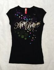 Apple Bottoms Womens Gold Logo Rhinestone T shirt  Size S New