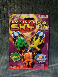 Radical Sky Divers 3pc 10in Chute Ready to Fly for kids age 4+ Ja-Ru New