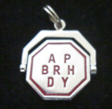 VINTAGE STERLING SILVER MOVEABLE SPINNING HAPPY BIRTHDAY CHARM