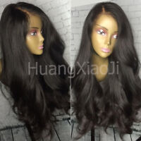 Pre Plucked Indian Remy Human Hair Full Lace Front Wigs Body Wave Silk Base X9