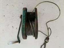 Used Boat Trailer Winch w/ Cable, Ratchets in both directions or free wheels
