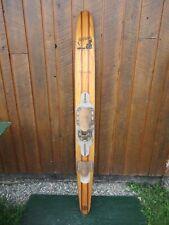"VINTAGE Wooden Single Water Ski Waterski 68"" Long SEA GLIDER RIVIERA"