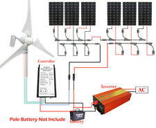 2kw Hybrid 400w Wind Turbine Generator Kit With 160w Solar Panel for 12v Home