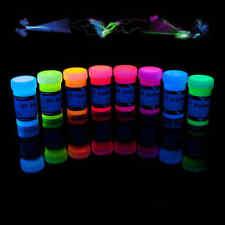 8 x 50ml UV-Stoffmalfarbe Textilfarbe Schwarzlicht Neon Premium-Qualität